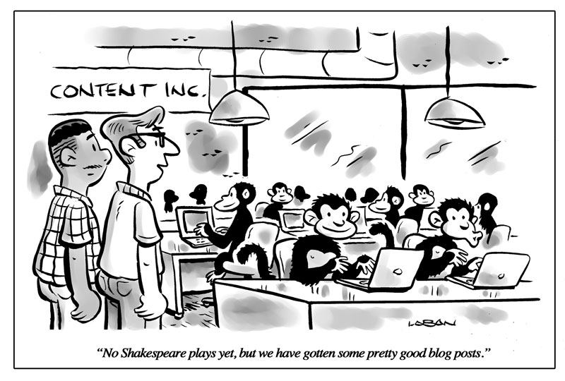 Blog cartoons, funny cartoons, business cartoons, New Yorker cartoons, Terry LaBan, Breakthrough Visuals